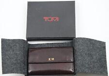 TUMI Leather Key Holder Case Pouch - Dark Burgundy - KM