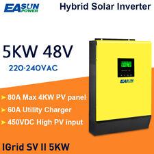 5KW Hybrid Solar Wechselrichter 48V 230V AC 80A MPPT 450VDC PV-Eingang