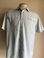 THE NORTH FACE Button Up Polo Shirt Men's/Hommes Short Sleeve Blue Size XL.#E