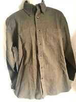 Tommy Hilfiger  Shirt Mens M Button Down Herringbone Brown Long Sleeve