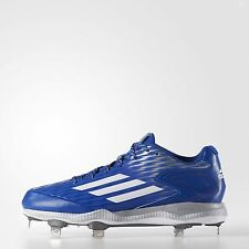 New Adidas Men's Power Alley 3 Metal Baseball Cleats Royal Blue White Size 13