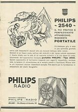 Y1143 Radio PHILIPS tipo 2540 - Illustrazione - Pubblicità 1930 - Advertising