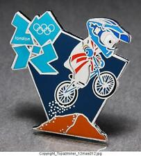 OLYMPIC PINS 2012 LONDON ENGLAND MASCOT WENLOCK BMX BIKE BIKING LOGO