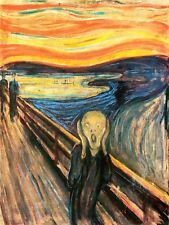 Edvard Munch The Scream Old Art Painting Reproduction Canvas Art Print