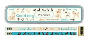 Cavallini - Tin of Pencils - Vintage Dogs - 10 pencils/2 Designs, & Sharpener