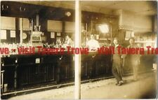 c1910s Massachusetts Saloon Interior Rueter Highland Vienna & Bowler Beer RPPC