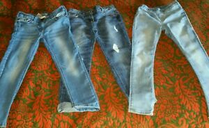 3 x Girls Jeans Jeggings Bundle Age 7-8 Years Next H&M