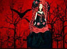 Mistress of Macabre   ~ Barbie doll OOAK Dakotas Song Gothic Goth Dark Valentine