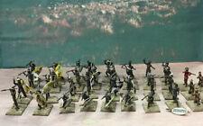 1/72 ESCI Zulu Wars  Zulu Warriors Plastic Painted Figures x45 Excellent