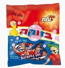 ISRAEL 180 Gr 28 GUMS KOSHER BAZOOKA JOE CHEWING BUBBLE GUM FROM ELITE