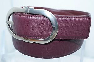 New Salvatore Ferragamo Men's Belt Size 34 Gancini Adjustable