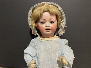 "Antique 18"" Kestner Character Baby Bisque Doll 152 / 10 - Germany"