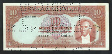 TURKEY 2'ND EMISSION 10  LIRA 1938 aAU P.128 CANCELLED KEMAL ATATURK RARE