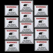 Window Warning Stickers Decals For Home Security Camera Adt Alarm System Outdoor