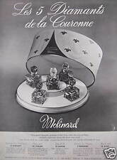 PUBLICITÉ PARFUMS MOLINARD LES 5 DIAMANTS DE LA COURONNE