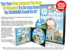 Discover How To Setup Your First Wordpress Blog- Videos on 1 CD