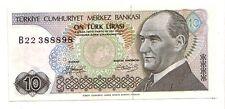 Turchia 10 turk lirasi 1970 (1979)   FDS UNC  pick 192    lotto 3625