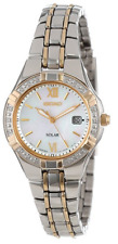 NWOT Women's Seiko SUT068 Two Tone Stainless Steel Diamond Accent MOP Dial Watch