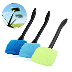 3x Set Plastic Windshield Cleaner Microfiber Auto Glass Handle Pad Brush Inside