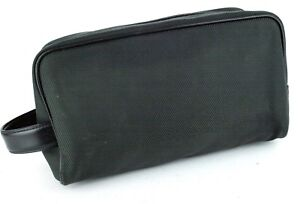 AUTHENTIC LOUIS VUITTON DARK OLIVE GREEN NYLON CLUTCH BAG HANDBAG SPAIN USED