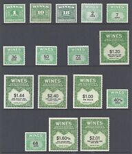 Wine Stamps - Selection of 16  Stamps - Issues 1934-1950's - Unused
