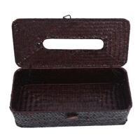 Toilet Decor Paper Tissue Storage Bag Straw Tissue Box Rectangular Holder Case Y