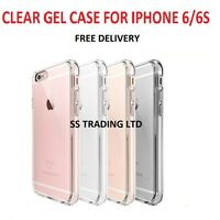 For Apple iPhone 6S/6 Crystal Clear Thin Back TPU Gel Jelly Skin Case / Cover