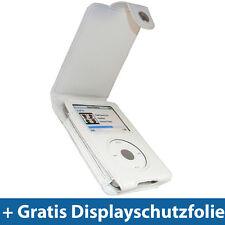Weiß PU Leder Tasche für Apple iPod Classic 80/120/160gb Schutz Hülle Case Etui