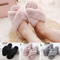 Women Fluffy Indoor Slippers Casual Comfort Sweet Home Shoes Fashion  Soft Flats