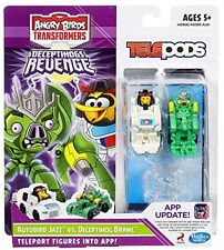 Angry Birds Transformers Telepods Autobird Jazz Bird Vs. Deceptihog Brawl Pig