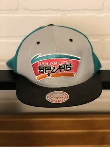 San Antonio Spurs Mitchell & Ness Pinwheel Buckle Strapback Hat Cap NBA M&N NWT
