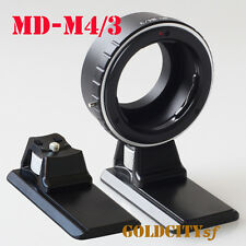 Minolta MD Lens to Micro Four Thirds Adapter G5 GX1 EP5 OM-D MD-M4/3 With Tripod
