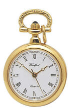 "Ladies Woodford Gold Plated Pendant Fob Watch On 28"" chain"