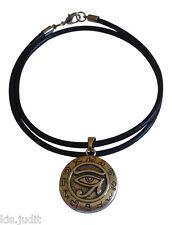 Amuleto Talismano L'occhio di Horus cuoio - Per protezione e contro le malattie