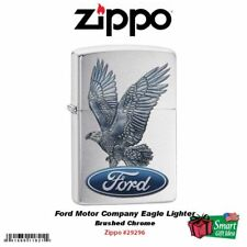 Zippo Ford Motor Company Eagle Lighter, Brushed Chrome #29296