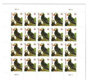 US SCOTT 4737 PANE OF 20 TUFTED PUFFINS STAMPS 86 CENT FACE MNH ORANGE DATE