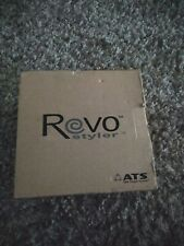 REVO HAIR STYLER NEW in Opened BOX Cordless Rotating HairBrush Straightens