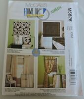 McCalls Sewing Pattern 5828 Home Dec In A Sec Shades Curtain Panels Window Decor