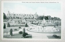 Antique Postcard Grand Lodge & Formal Gardens Masonic Homes Elizabethtown Pa