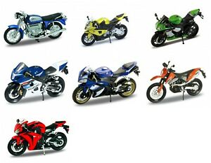 Variety Of Collectible Motorbikes Motorcycle Welly DieCast 1:18 NEW IN BOX