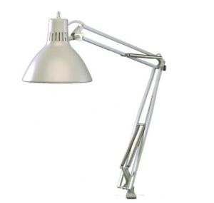 "MCM Luxo LS1-EWT Task Desk Light 45"" Powder-Coated Ivory w External Spring Arm"