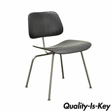 Early Herman Miller Charles Ray Eames DCM Ebony Mid Century Modern Dining Chair