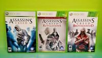 Assassin's Creed 1,  Revelations, Brotherhood - XBOX 360 Game Bundle Rare Lot