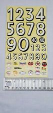 Vintage Rehco Cox Waterslide Decal Sheet Rare Palm Brothers Slot Car