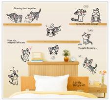 Wandtattoo wandaufklebe wall tattoo wandspruch  katze cat c003