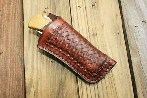 Custom Leather Sheath for Buck 110