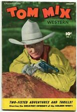 TOM MIX WESTERN #1-PHOTO COVER-GOLDEN AGE WESTERN Rare VG
