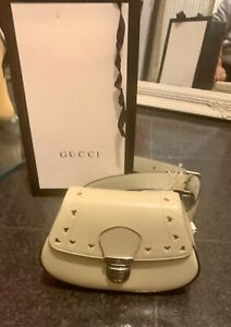 BNWT Gucci Authentic Off White Calfskin Girls or Ladies Heart Belt Bag RRP £550