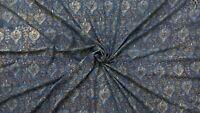 Block Print Dressmaking Fabric 100 % Cotton Ajrakh Upholstery Fabrics 3 Metre