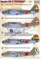 Print Scale Decals 1/72 TUPOLEV SB-2 KATIUSKA Part 1 Spanish Civil War Bomber